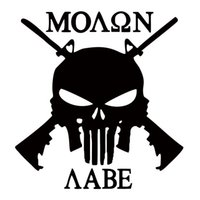 Wholesale Cars For Decorating - For Molon Labe Punisher Rifles 2a Gun Rights Car Styling Vinyl Decal Sticker Jdm Car Truck Window Accessories Decorate