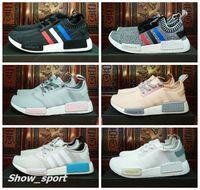 official photos 3feab 78c42 ... adidas nmd runner r1 mesh tri colore grigio rosa bianco blu donna uomo  scarpe sneakers originals ...