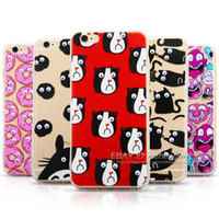 Wholesale Hard Leather Pouch Patterns - For iPhone 5 6 6s Plus Cute Pattern Soft Silicone TPU Clear Hard Back Case Cover Cartoon Protective Cases