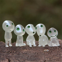 New Arrival 5pcs / set Luminous Tree Elves Toy Miyazaki Cartoon Princess Mononoke Figura de ação Brinquedos Kids Gifts Wholesale