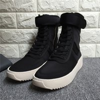 Wholesale Hight Heels Boots - Fear of god Military Sneakers Men Designer Shoes Boots Autumn Winter Outdoor Army Boots Hight Mens Boots