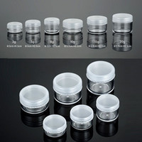Wholesale 8g Jewelry - 3g 5g 8g 10g 15g 20g Clear Plastic Cosmetic Container Jars With PE Lids Cosmetic Cream Pot Makeup Eye Shadow Nails Powder Jewelry Bottle