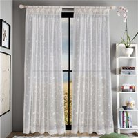 Coloful Floral Tulle Voile per porte e finestre Curtain Drape Panel Sheer Scarf Valances Glass Yarn Curtains Sheer Curtains