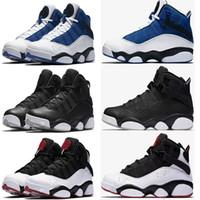 serin yeni basketbol ayakkabıları toptan satış-2018 yeni yüzükler erkekler basketbol ayakkabı Fransız Mavi Boğalar Serin Gri Siyah Gümüş Gri Alternatif Oreo Bukalemun Sneakers 40-45