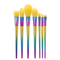Wholesale multi coloured hair for sale - Newest yellow hair brush dazzle colour handle makeup brush makeup tools dhgate vip seller