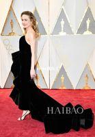 Wholesale Annual Academy - 89th Annual Academy Awards Black Velvet Brie Larson 2017 Celebrity Dresses Sweetheart Fishtrain Elegant Red Carpet Dresses For Party Prom