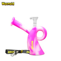 Venta al por mayor Hot Waxmaid Srta. Flexible Detachable Silicone Bongs Dab Rig Viaje Silicona Water Hookah Con Lanyard Glass Bowl Glass Adapter