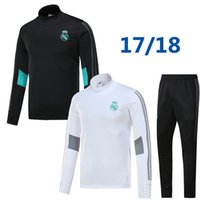 Wholesale Soccer Trainning - 17 18 real madrid tracksuit training sweater suit long pants 2017 2018 real madrid trainning sweater top set jacket RONALDO