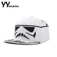 Wholesale Hat War - Adjustable Men Snapback Caps Hip Hop Star War Cap Baseball Cap Bboy Kpop Cavalry Letter Brim Baseball Hats Bone YY60241