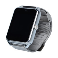 Wholesale german christmas - 2016 Bluetooth Z60 Smart Watch Stainless Steel Smartwatch Support SIM TF Card Camera Call SMS Remind Wristwatch For IOS Android Christmas