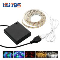 Wholesale Flexible Light Box - DC5V USB RGB LED Strip 2835 Flexible Lights Kit 50CM 1M 2M TV Background Lighting with Battery Box