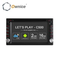 Wholesale French Tv Networks - Ownice C500 4G SIM LTE Network Android 6.0 Quad Core universal car radio 2 din Car DVD player GPS navi with 2GB RAM 16GB ROM Radio