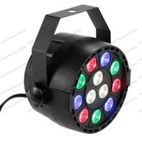 Wholesale Dmx512 Control Dmx - 12W 12 LED Flat Par Stage Light RGB Lamp Club DJ Party DMX512 Control Lighting FREE SHIPPING MYY