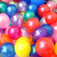 Wholesale Cheap Purple Balloons - 100 pcs lot cheap 2.2g 10 Inch Pearl Round Latex Balloons Baby Shower Birthday Wedding Party Decoration Supply