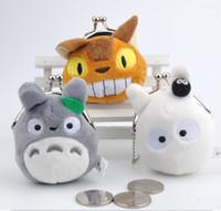 toptan sikke çantası toptan satış-Toptan-Mini 3Designs - TOTORO'nun 7cm Yaklaşık. Para BAG, Mini Narin Peluş Coin Çanta Cüzdan Kılıfı BAG Klip