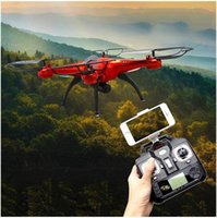Wholesale Camera Drones SYMA X5SW WIFI RC Drone FPV Helicopter Quadcopter with HD Camera G Axis Real Time RC Helicopter Toy DHL Free