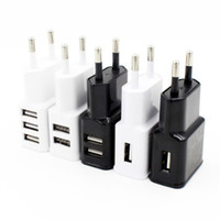 Wholesale Docking For Galaxy S4 - 1 2 3USB Wall Charger 5V 2A AC Travel Home Charger Adapter US EU Plug for Samsung Galaxy S3 S4 S5 I9600 Note 2 3 N9000 White Black Color