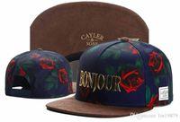 Wholesale bones black metal - Fashion New Arrival Cayler & Sons metal BONJOUR ROSE Snapback Hats Bone gorras Men Hip Hop Cap Sport Baseball Caps
