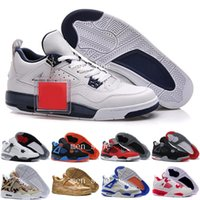 sapatos de salto venda por atacado-[Com Caixa] Alta Qualidade 4s Mens Sapatos de Basquete 4s Salto de Cimento Branco homens 4 s Preto Vermelho 4 Superman Moda Calçados Esportivos tamanho 8.0-13