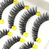 Wholesale Tools For Thick Hair - Popular 10 Pairs Handmade Criscross Long Natural Thick Cross False Eyelashes Makeup Eye Lashes Extension Make up Tools for eyes Hot selling