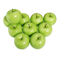 Wholesale Large Artificial Green Apples - Wholesale-CSS 12pcs Decorative Large Artificial Green Apple Plastic Fruits Home Party Decor