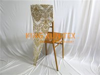 Wholesale Wedding Chiavari Chair Wholesale - Gold And Silver Color Bronzing Coated Spandex Chair Hood \ Cap For Chiavari Chair Cover Free Shipping