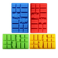 square chocolate bar - Square and Robot in Lego Toy Brick Shape Silicone Fandont Chocolate Mold Ice Cube Mould Cake Bakeware fondant cake tools