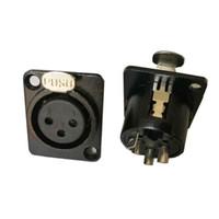 zócalo del panel xlr al por mayor-Alta calidad 20PCS / LOT Nuevo 3-Pin 4-pin 5-pin XLR Socket hembra Montaje en panel Metal Audio DMX Conector de video