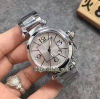 Wholesale Pasha Bracelet - Super Clone Brand Luxury New Pasha C W31074M7 34MM White Dial Quartz Watch Sapphire Glass Stainless Steel Bracelet Fashion Womens New Watch