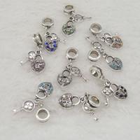 Wholesale Ancient Heart - 2017 diy jewelry accessories The ancient silver set auger love lock pendant wholesale