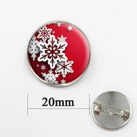 Wholesale Medals Brooch - Christmas Day Handcrafted Snowflake Pendant brooches pins jewelry for men and women gift for baby lass cabochon dome medal