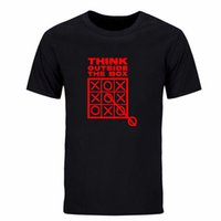 Wholesale Boxing T Shirts - Think Outside The Box Funny Cool Creative Mens T Shirt 2017 Short Sleeve O Neck Casual Summer T-shirt More size and color DIY-0255D