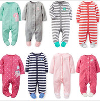 Wholesale Girls Footies - Baby Rompers Baby Long Sleeve Jumpsuits Spring Newborn Cotton Footies Romper for 0~1 Year Baby 10p l