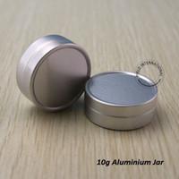 Wholesale Hand Cream Jars - 10g Empty Aluminium Cosmetic Container, High Quality Balm Jar, Metal Jar For Cream Ointment, Hand Cream, Makeup Tools 50pcs lot
