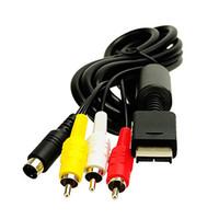rca av kabel ps2 großhandel-Heißes Verkauf 6 Fuß 1.8M Audiokabel zu RCA PlayStation für PS / für PS2 / für PS3 Video Handels