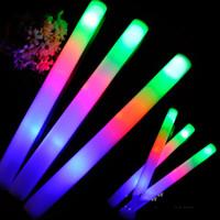 ingrosso barre di schiuma-Bastoncini di LED colorati Bastoncini di schiuma Bastoncini di schiuma lampeggianti Bastoncini di luce per concerti di bagliore di schiuma bagliore incoraggiante