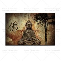 Barato Grandes Pinturas De Buddha-Hot Large Buddha Painting Wall Pictures for Living Room Impressões em tela Artwork Wall Paintings Home Decorative - Wall Art Canvas