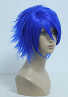 Wholesale Kaito Hair Wig - MCOSER Free Shipping Specially Design Bright Blue Vocaloid Kaito 32cm Short Animation Male Cosplay Wig Cosplay women's peruca hair queen wig