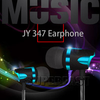 Wholesale Iphone Headphone Telephone - JY-347 Earphone 3.5 Audio Headphone Wire Premium Stereo Headset Adjustable The Volume Support iPhone For Communicating by Telephone in Box