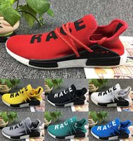 Wholesale People Running - Cheap NMD HUMAN RACE Williams Pharrell x NMD HumanRace People Racing Shoes HumanRace White Yellow Black NMD Shoe running shoes EUR 36-45