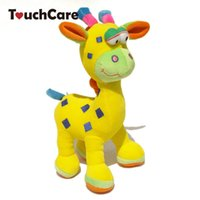 Vente en gros- Cute Animal Deer Newborn Baby Peluche Jouets Soft Cartoon Farcis Kids Baby Rattles Mobiles Ring Handbells Chilren Baby Speelgoed