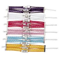 Wholesale Heart Bracele - InfinityI Love Eiffel Tower Leather Tennis Bracelet Heart To Heart pearl Charm Bracelet Leather Custom Bracele