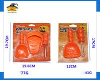 Wholesale Pumpkin Baking - new 3pcs set Pumpkin Carving Kit Halloween pumpkin carving for children Kitchen Tools Colorful plastic for Kitchen Cooking Baking wholesale