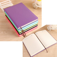 a5 lederne notizbücher großhandel-5 Farben Classic PU Leder Notebook - A5 Journal Tagebuch Planer 100 Blatt Agenda Business Notepad - Schule und Büroartikel