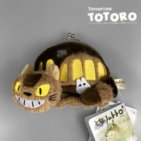 """Wholesale Tv For Bus - Hot New 4"""" 10CM CAT BUS Coin Bag My Neighbor TOTORO Dime Bags Festival Wallet Gifts For The Children"""