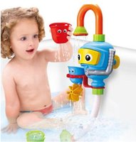 Wholesale Dove Baby Shower - New men and women baby universal children diving machine bath bath water toys manual shower water tank leakage cup