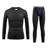 Wholesale Men Quick Dry Thermal Underwear Men Warm Long Johns Men Ski Jacket and Pants For Ski Hiking Snowboard Cycling