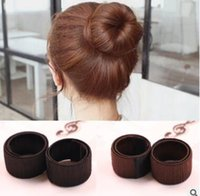 Accessoires pour cheveux Perruque synthétique Donuts Bud Head Band Ball French Twist Magic Outils de bricolage Bun Maker Sweet French Dish Made Hair Band