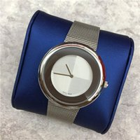 Wholesale Thin Leather Watch For Women - High Quality Women Men Watch Rose Gold Thin Mesh Belt watches Square dial face Lovers watch Women Quartz Gift for girls wholesale price