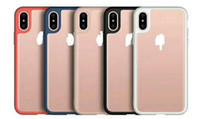 Wholesale Iphone Simple Cover - for iphoneX case 2 in 1 TPU and clear Acrylic for iphone X   10 phone back cover ultra thin simple fashion New Arrival
